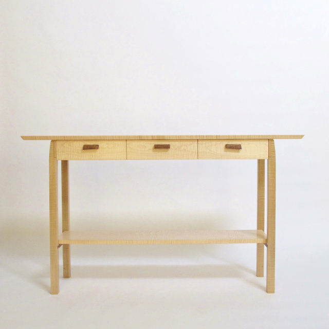 Narrow Sofa Table With Drawers: Three Drawer Entry Table: For Hallway, Console Table With