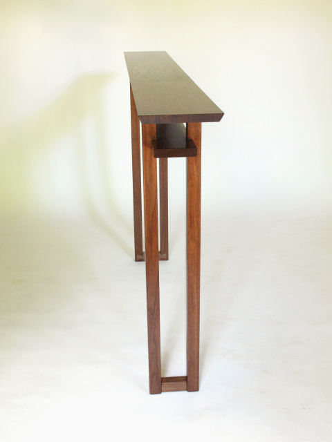 Very Narrow Console Table For Hallways Long Entry Table Skinny Side Table Handmade Wood