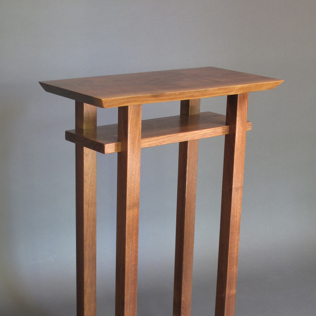 small entry table. Tall Entry Table- Small Narrow Console Table, Table For An Elegant Wood