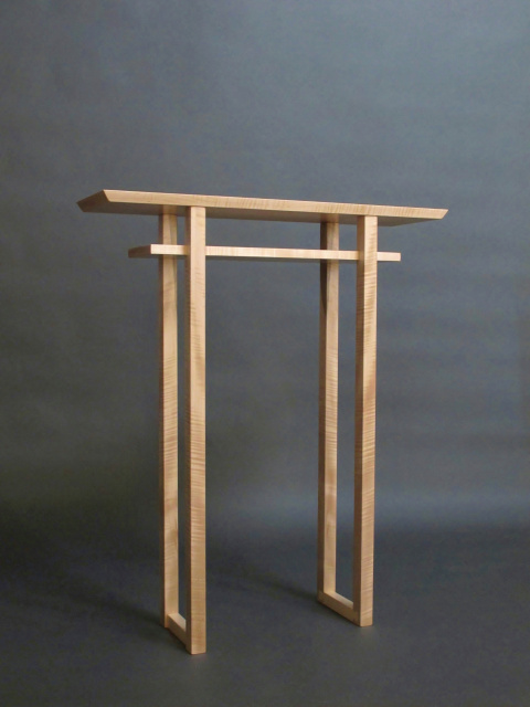 Classic narrow altar table tall console table small for Tall slim side table