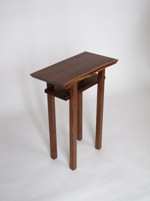 Artistic Wood End Table With Shelf A Perfect Accent