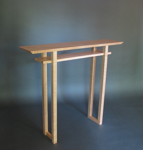 Hall Side Table classic hall table- narrow entry console, table for narrow hallway