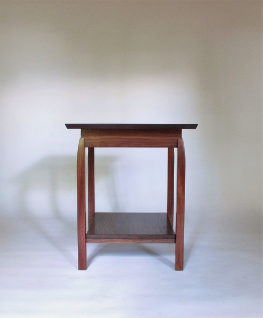 This Solid Walnut Side Table Has A Shelf For Storage Or Display. Our  Handmade Wood