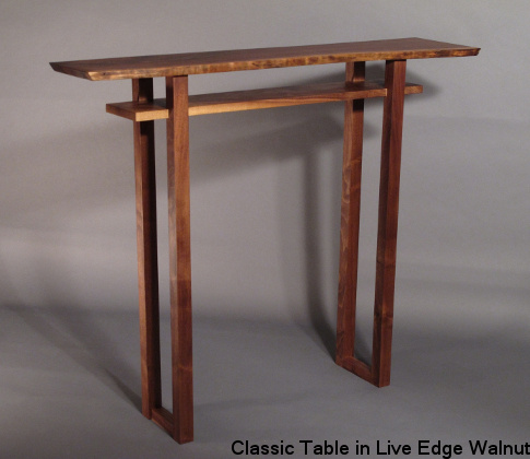 Mokuzai Furnitureu0027s Signature Table, The Classic Hall Table In Live Edge  Walnut.