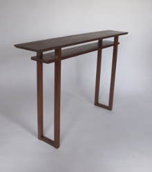 Mokuzai Furniture's Classic Console Table in Walnut 54x10x34