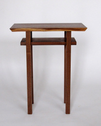 Classic End Table with Live Edge Table top- artistic small table for a narrow end table, accent table or nightstand