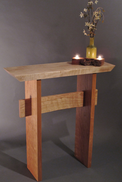 Beautiful Contrasting Wood Colors Are Shown Here In This Tiger Maple With  Cherry Wood Furniture Combination ...