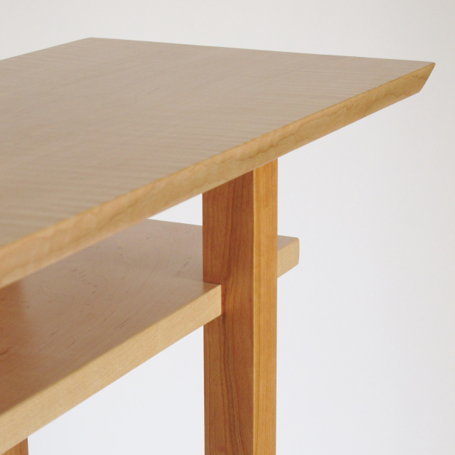 ... Mokuzai Furnitureu0027s Custom Classic Tables Are Solid Wood Furniture.  Show Here In Tiger Maple And ...