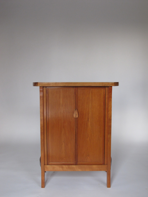 cherry cabinet, bar cabinet, liquor cabinet or entry cabinet