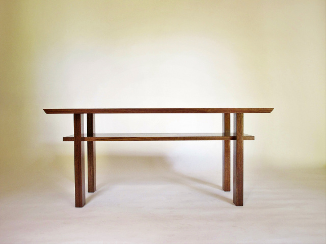 A More Narrow Version Of Our Classic Coffee Table  Pictured Here In Walnut,  This