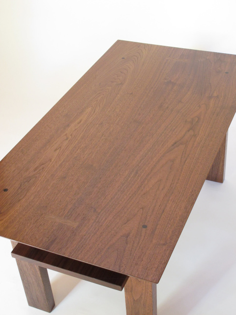 Beautiful Solid Wood Coffee Table Handmade From Walnut  Artistic Modern  Wood Coffee Table For Small ...