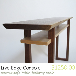 live edge console table for hallway table with live edge console table narrow dresser