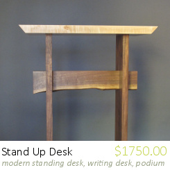 Stand Up Desk: for Writing Desk, Standing Desk, Work Desk, Podium, Lectern, Modern Wood Desk, Handmade Furniture