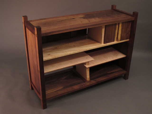 Modern Wood Console Cabinet For Your Media Console Buffet Sideboard Or Entry Storage Handmade