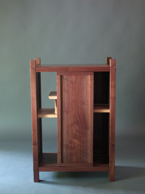 Solid Wood Bar Cabinet With Mid Century Modern Style
