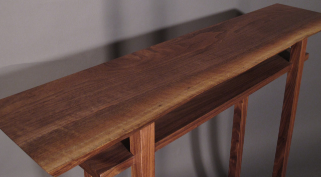 Minimalist Modern Zen Small Bar Table In Walnut Cherry