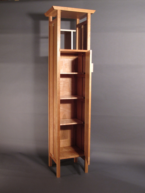 Tall Narrow Armoire Cabinet For Linen Closet Entry