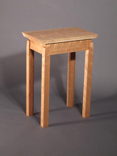 ... narrow small table in cherry- handmade custom furniture by Mokuzai  Furniture- a modern wood ...