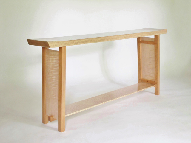 Long Low Narrow Console Table For Hall Table Entry Table