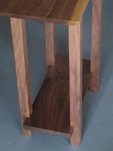 Small Narrow Table Modern Wood Furniture Narrow End Table Narrow Side Table Solid Wood