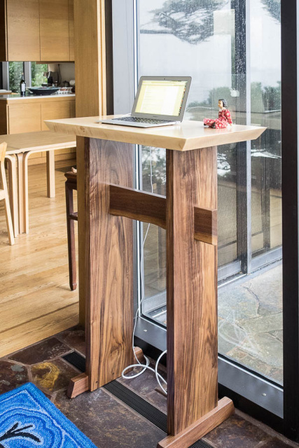 Stand Up Desk Modern Wood Writing Desk Tall Desk For