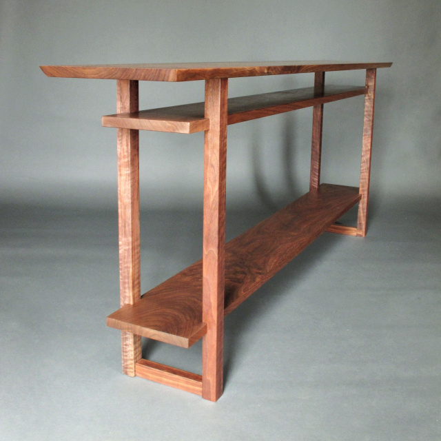 Modern narrow console tables entry tables and hall for Long narrow side table