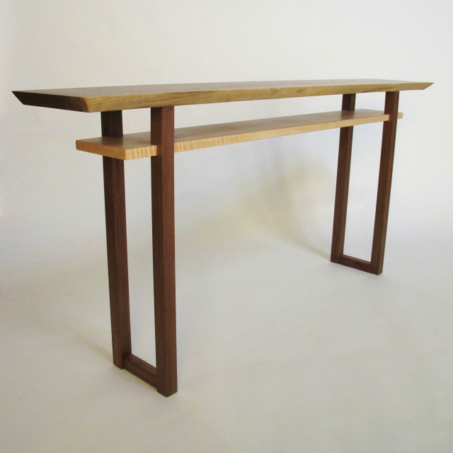 Live Edge Sofa Console Table Narrow Table Wood