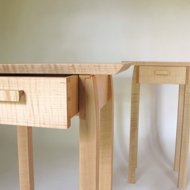 End Tables w/ Drawer Storage Set of 2- Small Side Tables: Handmade Wood Furniture by Mokuzai Furniture