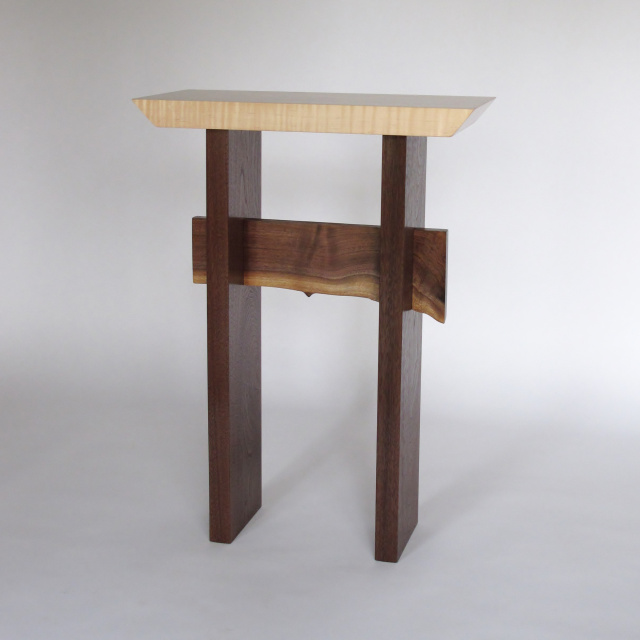 Solid wood accent table- small narrow side table, entry table small hallway table- wood furniture handmade in the USA