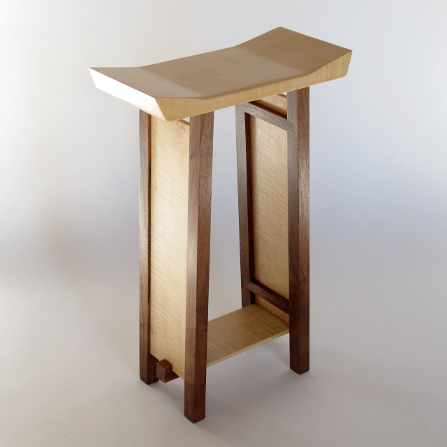 modern zen bar stool, artistic wood furniture, modern bar furniture, saddle stool
