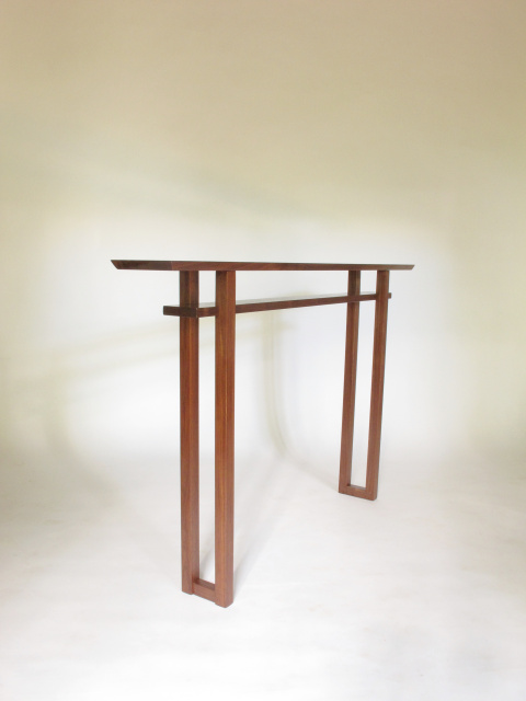 A Very Narrow Console Table Handmade From Solid Walnut Hall Entry