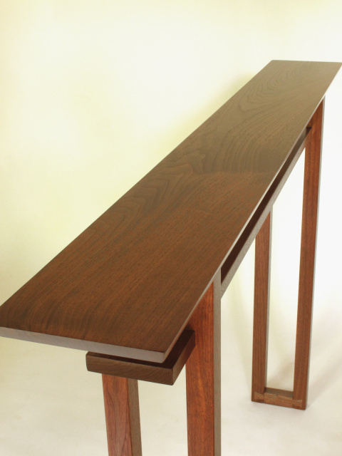 Narrow Hall Table- Walnut Console- Handmade Fine Furniture