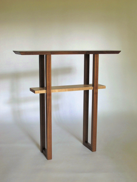 Narrow Entry Table Wood Console For Hallway Or Small
