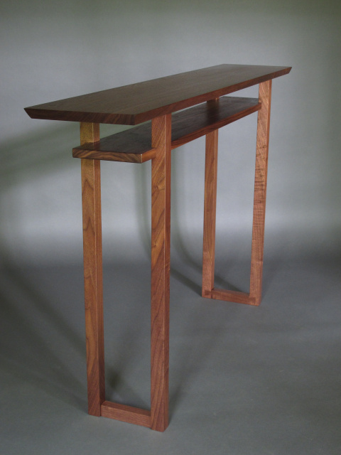 A Modern Narrow Console Table Or Narrow Sofa Table With