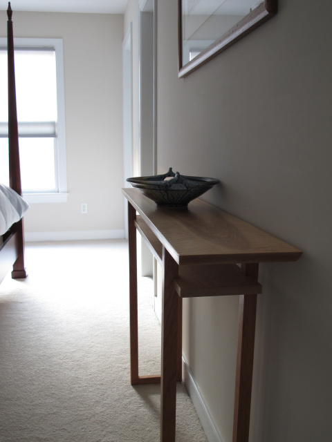 Classic vanity console- a narrow wood console table for your bedroom console vanity table or artistic wood side table.