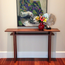 Our Classic Console Table in solid walnut is the perfect narrow table for the entryway of hallway.