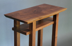A live edge table top is available on our Walnut and Cherry Classic Tables