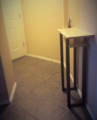 Small entry table for tricky space - tall narrow table for entryway - handmade solid wood furniture