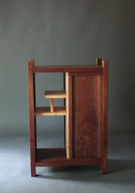 A Modern Entry Storage Cabinet Solid Wood Hall Table