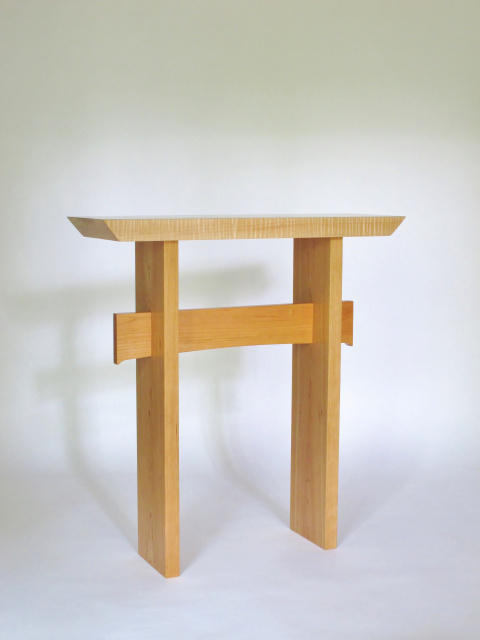 Statement Side table- Maple and cherry- a modern wood table for your narrow side table, entry console table, narrow hall table or accent table for small spaces- wood furniture Handmade in the USA