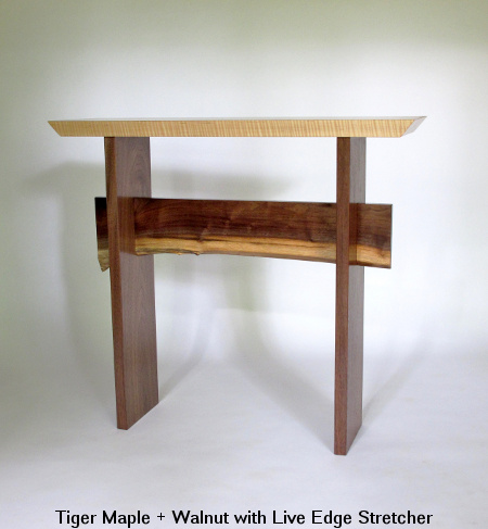 Narrow Hall Console Table Wood Entry Table Artistic Side