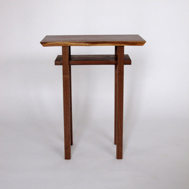 Small Narrow Table Tall End Tables Solid Wood Accent