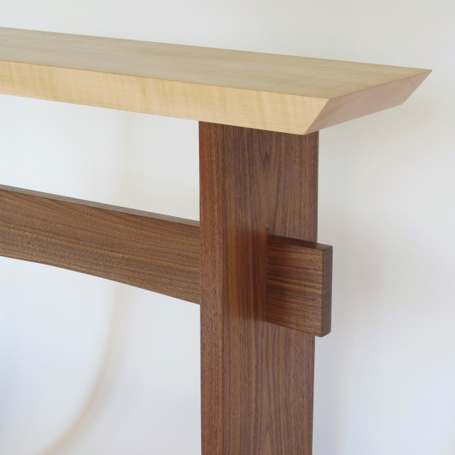 Custom Statement Table: modern wood table for your narrow hall table, entry console table or narrow side table customized for your space