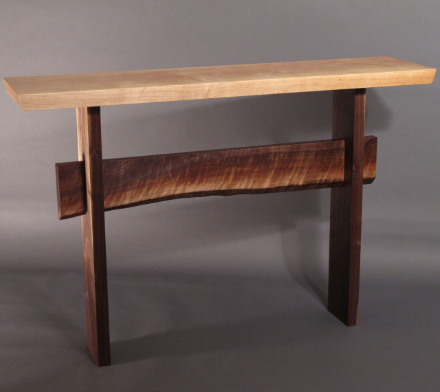Solid Wood Narrow Console Tables Narrow Entry Tables And